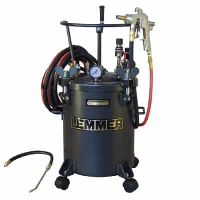 Rustproofing complete system with 5G pressure pot. Lemmer